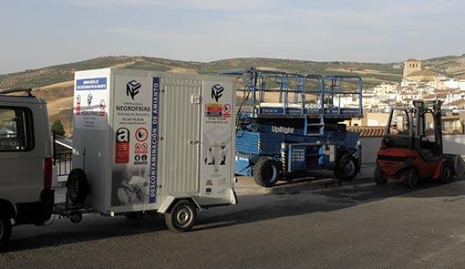 retirada de amianto en Granada, Retirada de amianto en Jaen, Retirada de amianto en Málaga